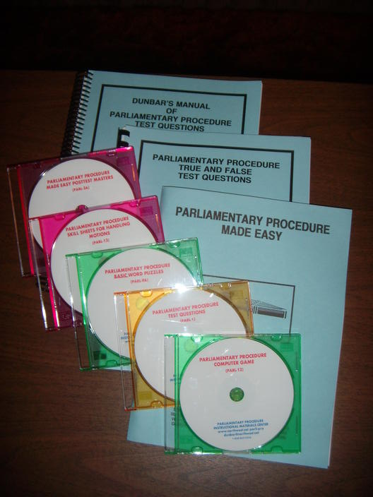 Parliamentary Procedure Basic Sample Package Parl 11a 29900